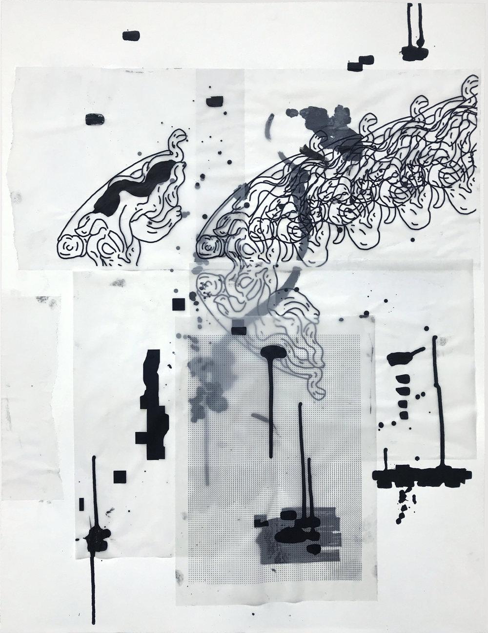 %22Detrás del espejo _ 16%22 - Técnica mixta sobre papel - 65 x 50 cm - Julián Brangold - 2018.jpg