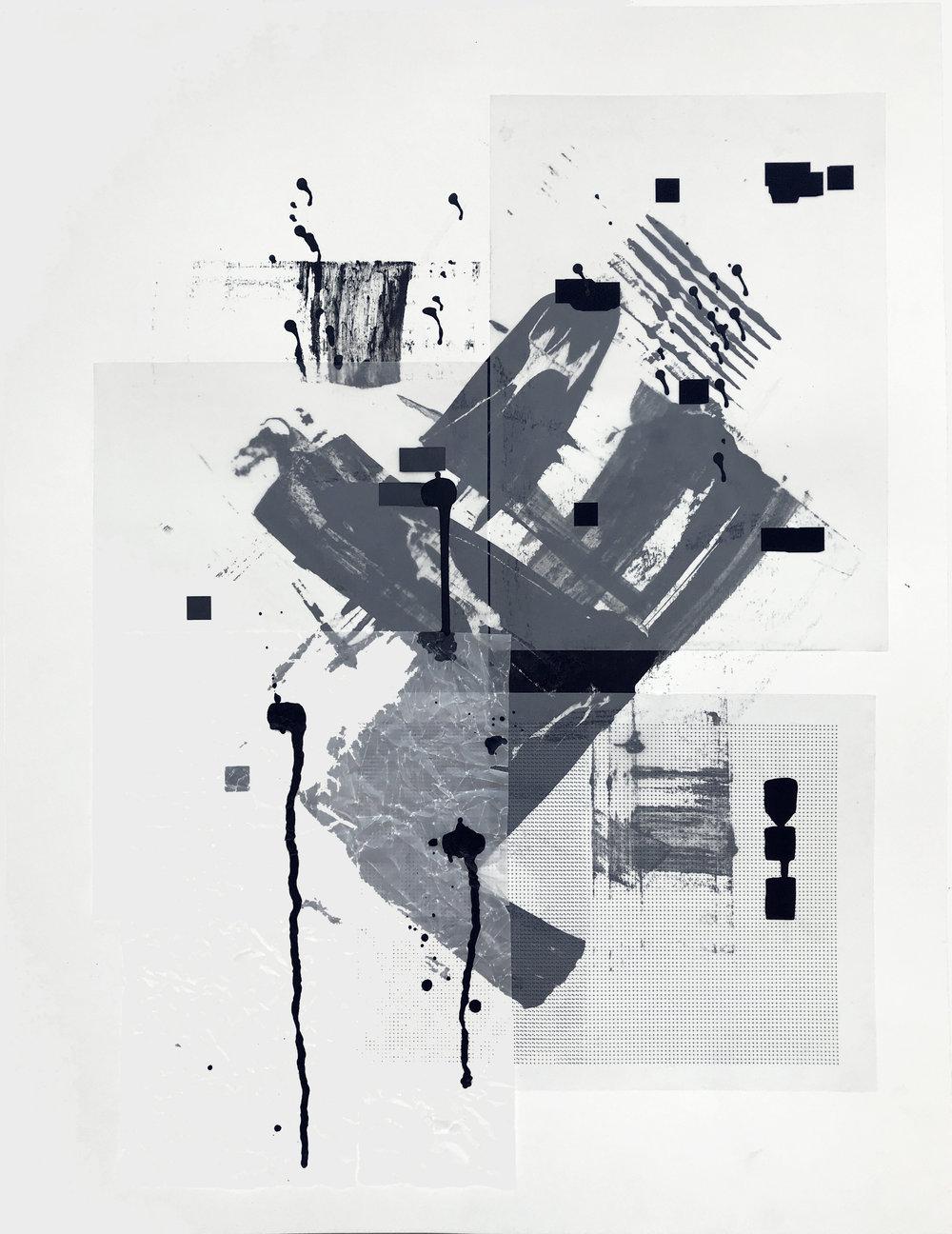 %22Detrás del espejo _ 17%22 - Técnica mixta sobre papel - 65 x 50 cm - Julián Brangold - 2018.jpg