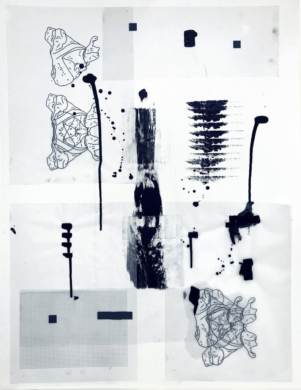 %22Detrás del espejo _ 22%22 - Técnica mixta sobre papel - 65 x 50 cm - Julián Brangold - 2018.jpg