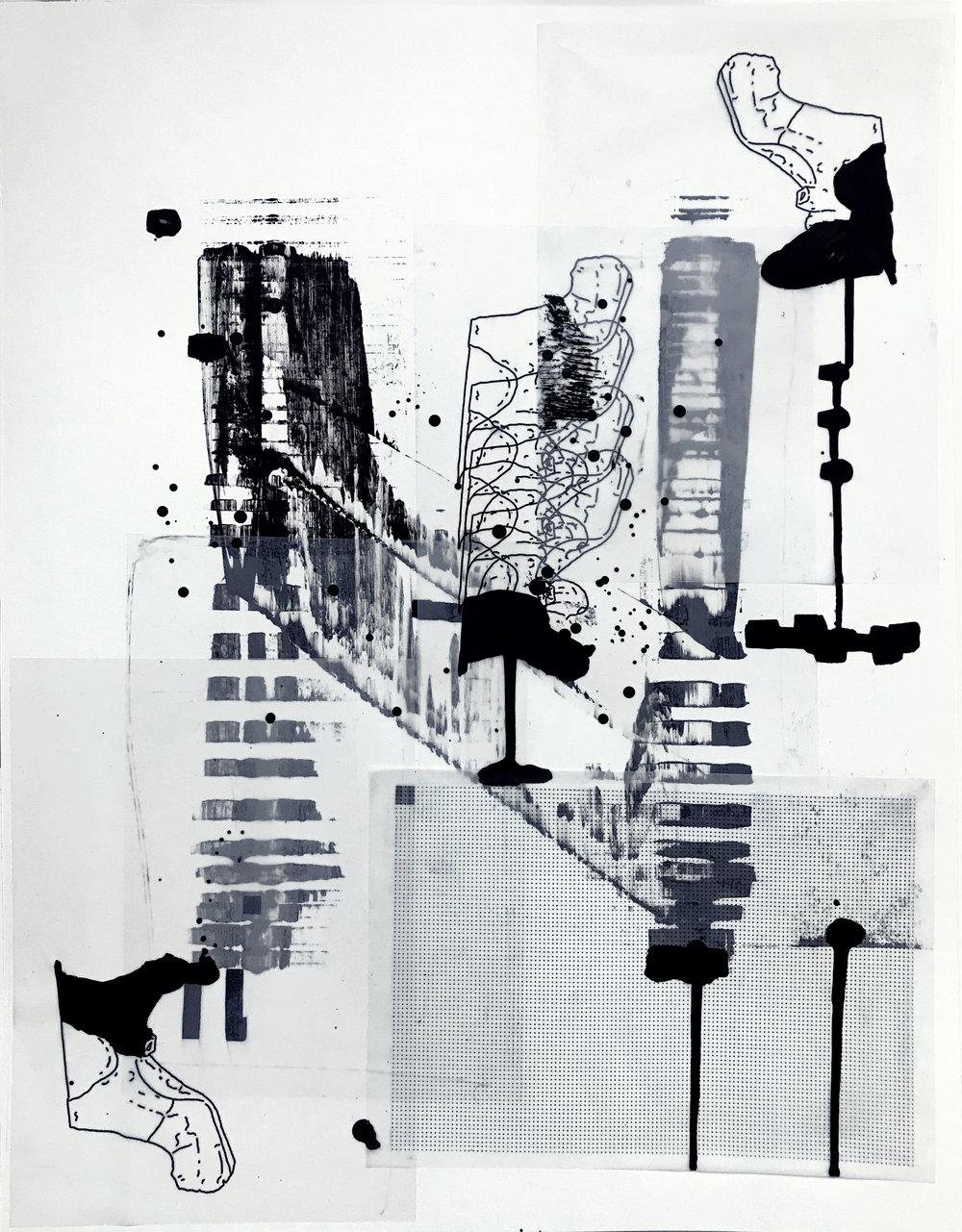 %22Detrás del espejo _ 19%22 - Técnica mixta sobre papel - 65 x 50 cm - Julián Brangold - 2018.jpg