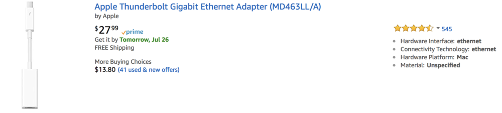 Apple Thunderbolt Ethernet Adapter