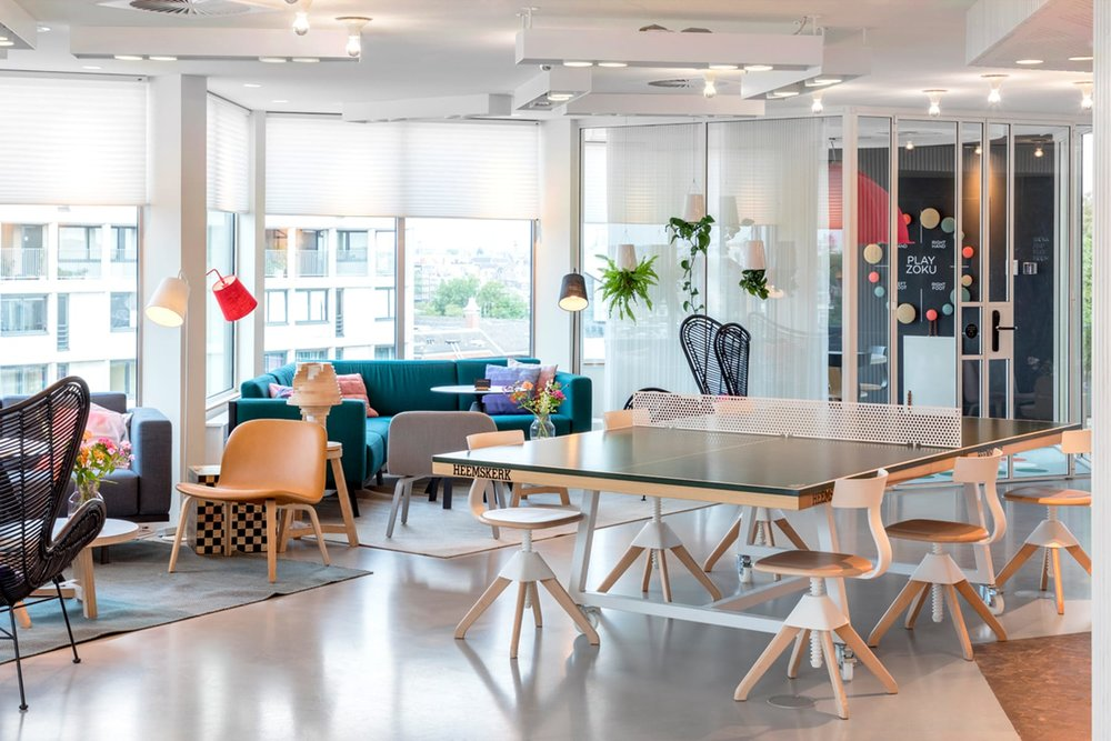 Part of Zoku Amsterdam's Living Room & Community Space