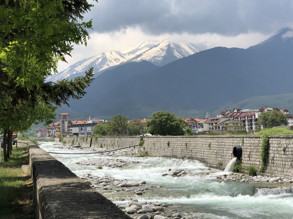 Bansko River and Mountains