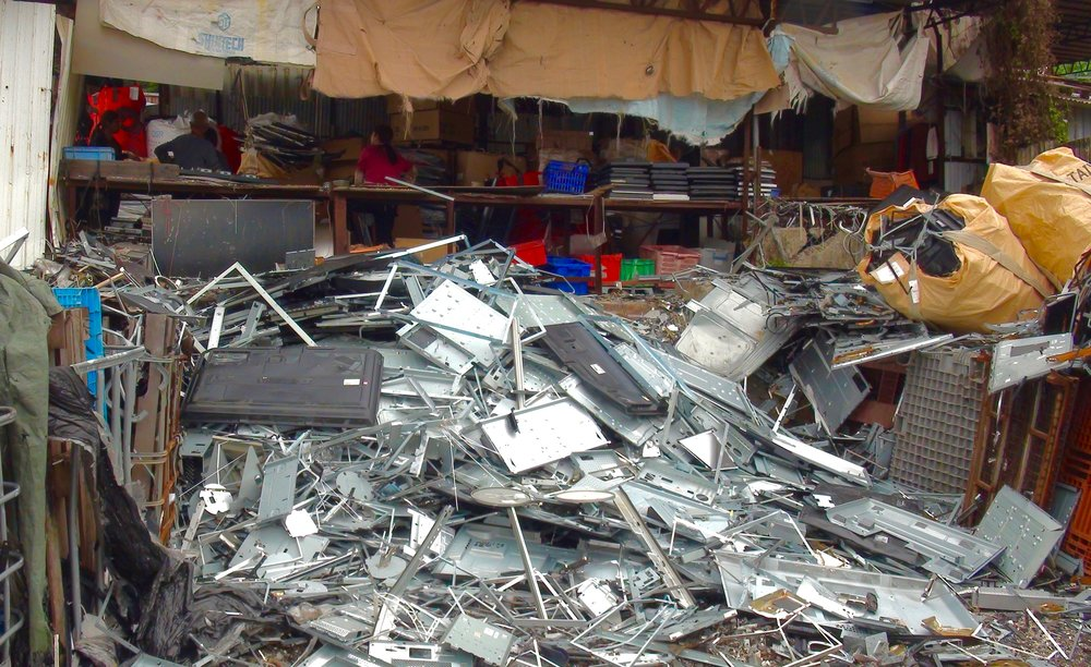 Location in Hong Kong where illegal laborers smashed apart Total Reclaim's LCD monitors with no protection or knowledge of the hazardous mercury exposure from the broken backlights. Copyright BAN. March 2016.