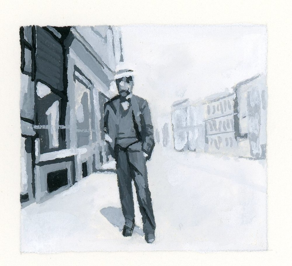 Man Standing in Street (A)