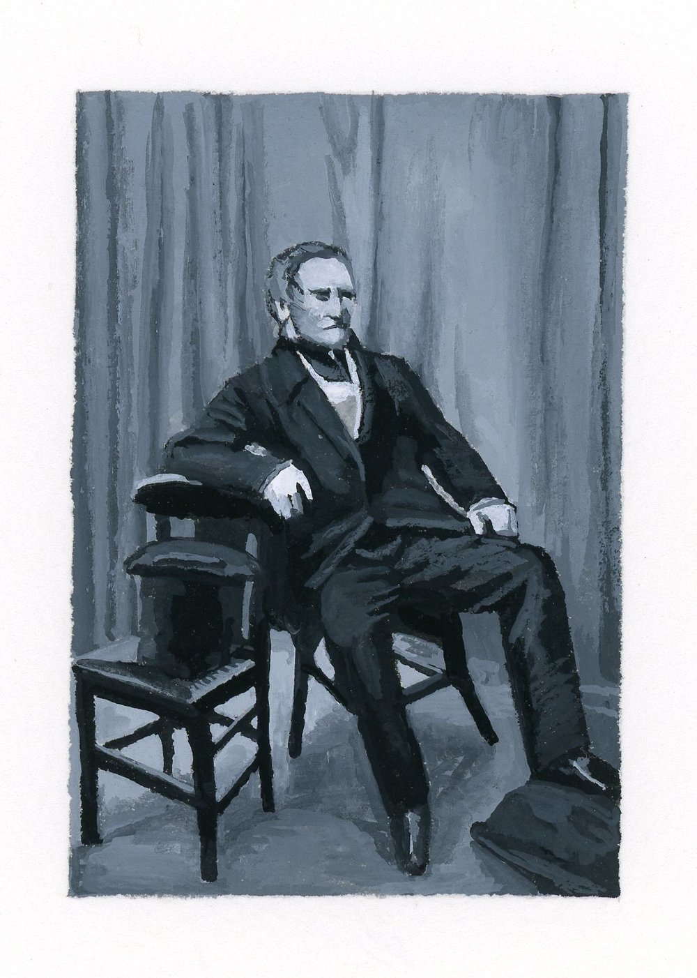 Seated Man with Top Hat