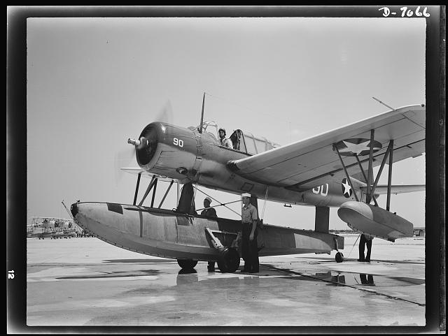 U.S. Navy Kingfisher (August 1942)   Image courtesy of the Library of Congress