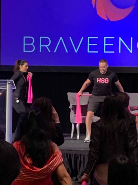 Lance Shillcutt and I demonstrate the exercises on stage.