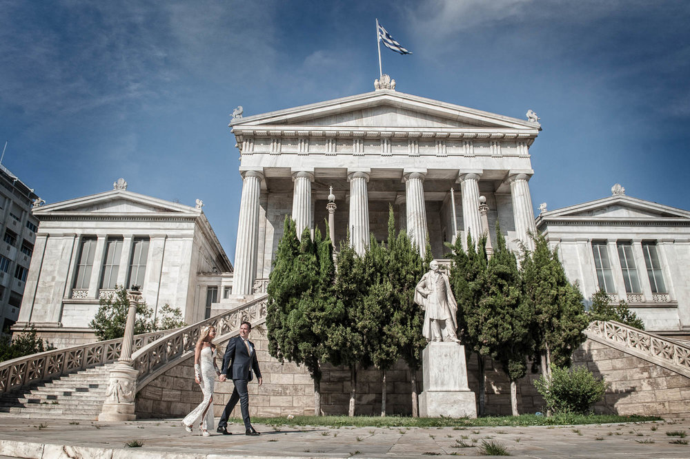 Wedding photography at Athens city center