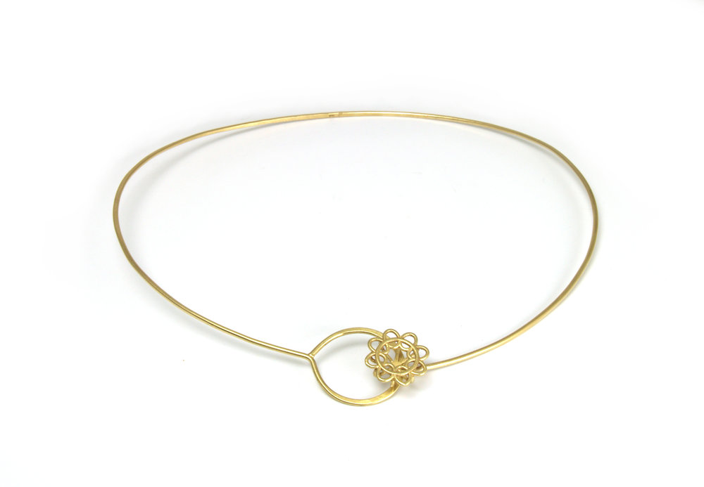 Doily Collar_18K Fairmined Gold Forged Choker Necklace.jpg