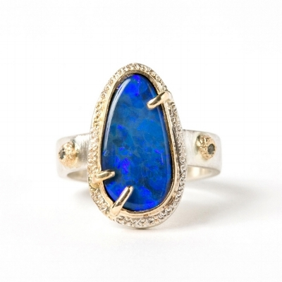 ONE OF A KIND BOULDER OPAL RING BY  ELEMENTS BY K