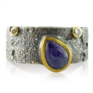 BEDROCK RING WITH TANZANITE BY JENNY REEVES