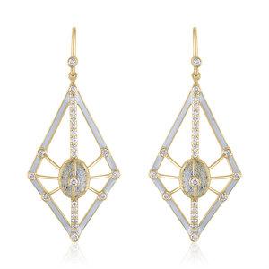 9c96a6819 GALAXY EARRINGS WITH LABRADORITE ENAMEL AND DIAMONDS ...