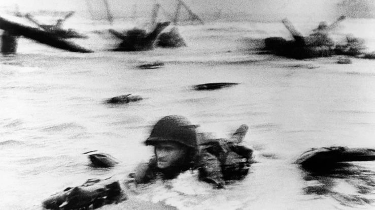 D-day landings, 1966, by Robert Capa