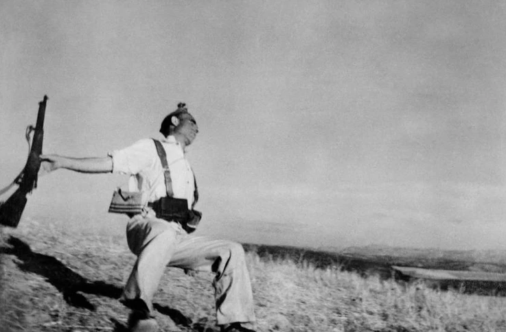 Falling Soldier, 1936, by Robert Capa