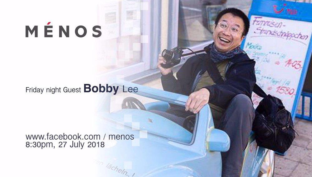 - 很榮幸今次Ménos能夠邀請到Bobby Lee 跟我們分享他的攝影心得,及菲林與數碼之異同和應用。主題:菲林 / 數碼 攝影初講:同、異,特性 與 決擇[詳情]時間:27July 2018, 8:30pm - 10:30pm地點:香港銅鑼灣渣甸坊3號蓮福商業大廈9A(銅鑼灣地鐵站F1出口旁)*今次因應Bobby 的要求不作Facebook live, 所以大家請到現場參與這次精彩的分享會。