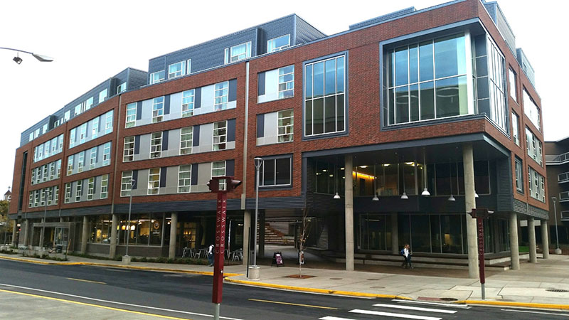 The new Global Scholars Hall is the first residence hall on WSU's campus with GPON. FiberLAN allows WSU to meet the high bandwidth demands of Global Scholar Hall's busy students with unparalleled access speeds.