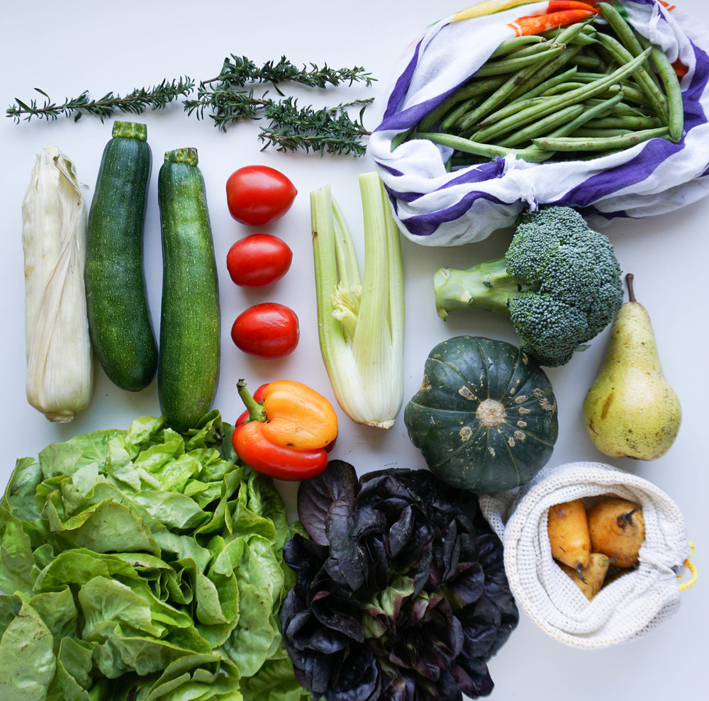 gerettetes Obst und Gemüse vom Hammer Wochenmarkt