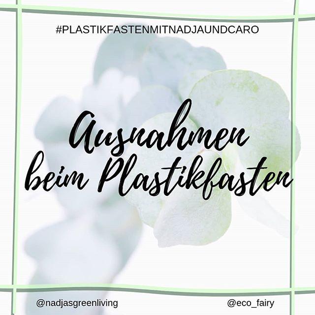 """Welche Außnahmen machst du beim #plastikfastenmitnadjaundcaro ? . . Da die Umstellung auf einen nachhaltigeren Lebensstil mit weniger Müll von deiner Ausgangsposition und so vielen Faktoren in deiner Umgebung abhängig ist, sind auch die Ausnahmen innerhalb deines Plastikverzichts individuell. . Für manches gibt es eventuell schlichtweg keine plastikfreie Alternative, auf andere Dinge mag man vielleicht (noch) nicht verzichten. Ich habe z.B. die wenige dekorative Kosmetik, die ich noch besitze, in Plastik verpackt gekauft und werde davon sicher auch einige nachkaufen. Selbermachen klappt halt leider nicht immer so zuverlässig🙈. Dafür ist alles Naturkosmetik, vegan und tierversuchsfrei, also trotzdem nicht gedankenlos gekauft. . . Eine wichtige große Ausnahme, die wir alle machen sollten, egal wie """"Zero Waste"""" wir schon sind, sind Medikamente. Klar kann man auch hier teilweise auf Arznei in Glasflaschen oder natürlichere Mittelchen zurückgreifen, aber die Gesundheit geht immer vor! Wer soll denn schließlich die Welt retten, wenn wir Ökos unserem Perfektionismus erliegen😉? . . . @nadjasgreenliving #plastikfasten#nobodyisperfect#perfektionismus#öko#ökofluencer#nachhaltigkeit#nachhaltigleben#grünleben#therisnoplanetb#greensetters#zerowastelifestyle#zerowastedeutschland#lowimpact#umweltschutz#zerowasteliving #plastikfrei#plastikfreileben#ohnewennundabfall#unverpackt#müllvermeidung#mindset#weltretten#nachhaltig#fastenzeit#plastikmüll#bethechange#reduce"""