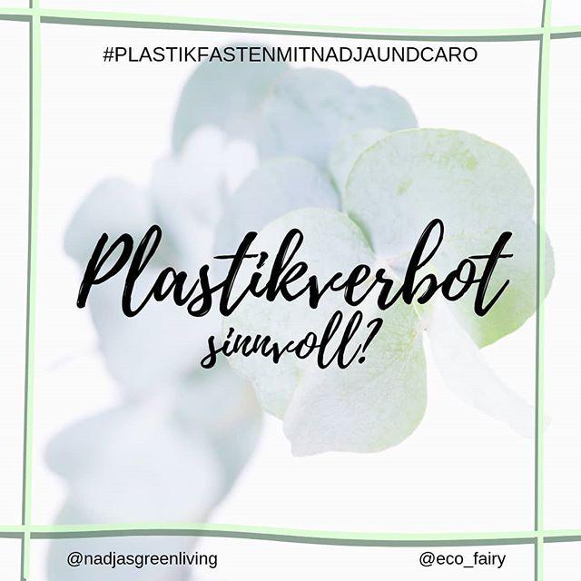 """Verändern Verbote nachhaltig etwas in den Köpfen der Menschen? Was meinst du🤔? . . Immer öfter hört man von Supermarktketten, die in ihrer Obst- und Gemüseabteilung auf Plastikverpackungen verzichten wollen, von Städten und Ländern, die Plastiktüten und Ähnliches verboten haben oder es in absehbarer Zeit tun werden. Ab 2021 gibt es in der EU ein Verbot für eine Handvoll Single-Use Plastikartikel wie Besteck, Teller, Strohhalme und Wattestäbchen. Und jedes Mal freu ich mich riesig, wenn ich solche Nachrichten sehe, über den Schritt in die richtige Richtung🙆🏼! . Dennoch stellt sich mir die Frage, ob es nicht genauso wichtig wenn nicht sogar wichtiger wäre, die Menschen aufzuklären um ihr Verhalten langfristig zu ändern. Weg von der Wegwerfgesellschaft allgemein und nicht nur weg vom Plastik-Wegwerfen. Denn nach und nach tauchen für viele dieser Einmal-Artikel """"Alternativen"""" aus Bio-Plastik, welches vorgibt biologisch abbaubar oder kompostierbar zu sein, und auch diese Dinge landen dann genauso nach einer Benutzung auf dem Müll. Und auch diese """"grünen Alternativen"""" benötigen Ressourcen und müssen transportiert werden, stellen somit meiner Meinung nach keine Lösung dar, wenn sie auch die Bereitschaft zur Veränderung zeigen. . . Ich finde, den eigenen Jutebeutel/Kaffeebecher oder Lunchbox mitzubringen und befüllen zu lassen sollte konsequent belohnt werden. Durch kleine Rabatte und Aufgeschlossenheit der Verkäufer*Innen. Und das überall, nicht nur in Bio-Tante-Emma-Unverpackt-Läden. Wann gibt's dafür mal ein Gesetz✨? . . . @nadjasgreenliving #plastikfasten#plastikfastenmitnadjaundcaro#fastenzeit#bethechange#öko#ökofluencer#klimawandel#umweltgesetze#plastikfrei#plastikfreileben#ohnewennundabfall#unverpackt#müllvermeidung#bringyourowncontainer#bringyourownbag#jutebeutel #nachhaltigkeit#nachhaltigleben#grünleben#therisnoplanetb#greensetters#zerowastelifestyle#zerowastedeutschland#lowimpact#umweltschutz"""
