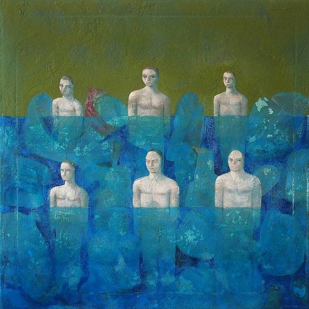 6 bathers   #acryliconcanvas