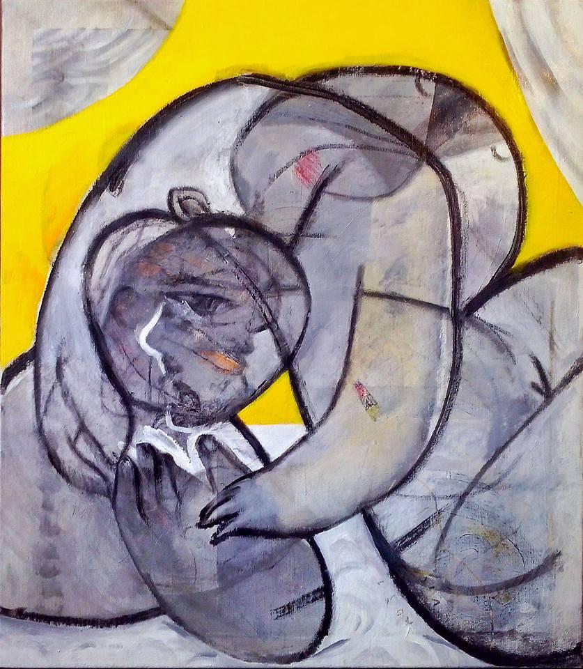 The Kiss  Acrylic on canvas, cm.80x70