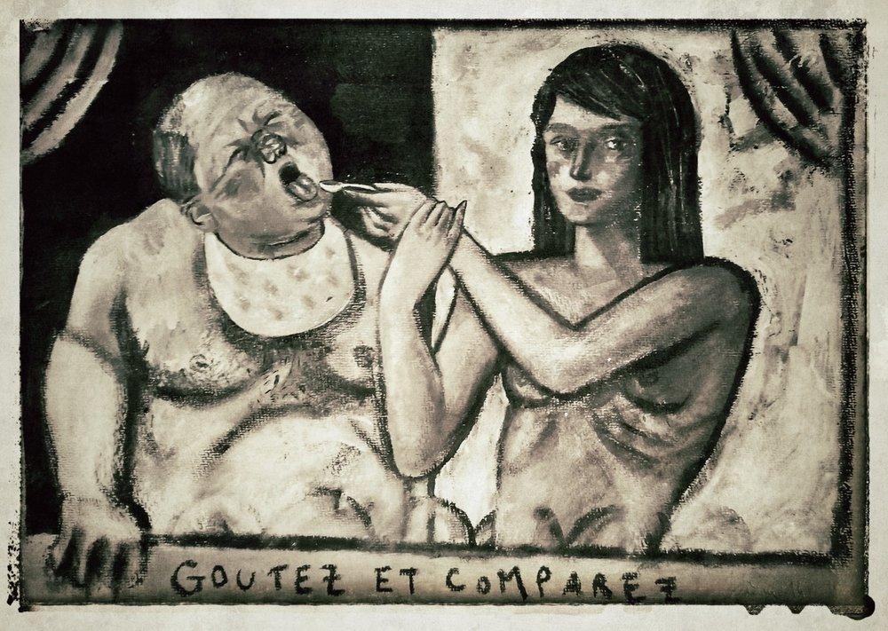 Goutez et Comparez  Acrylic on paper, A3
