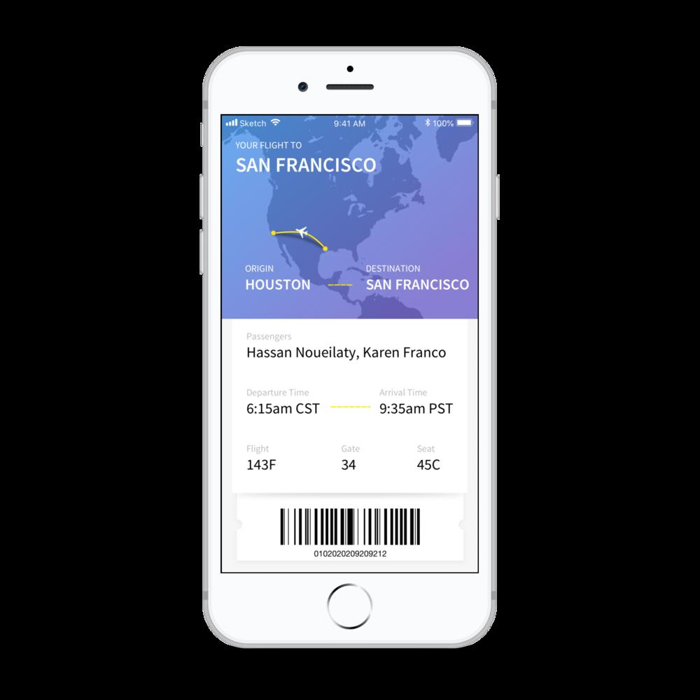 Flight Tracker App - iPhone 8 Mockup