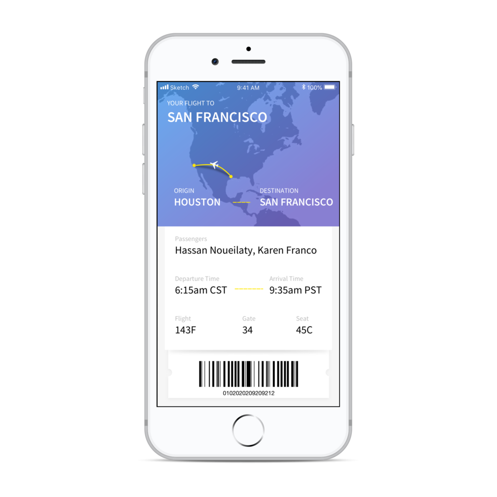 Flight Tracker App - Mobile Application UI
