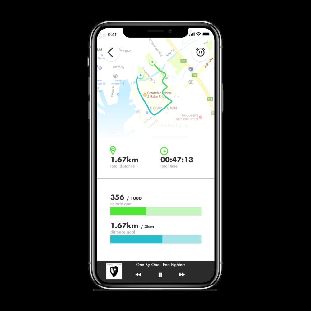 Running App - Mobile Application UI