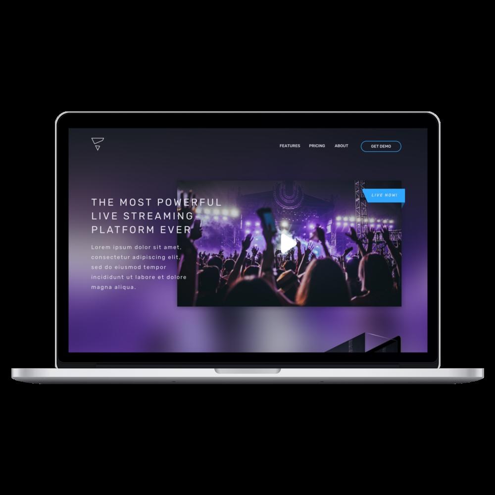 Video Landing Page - Desktop Web UI
