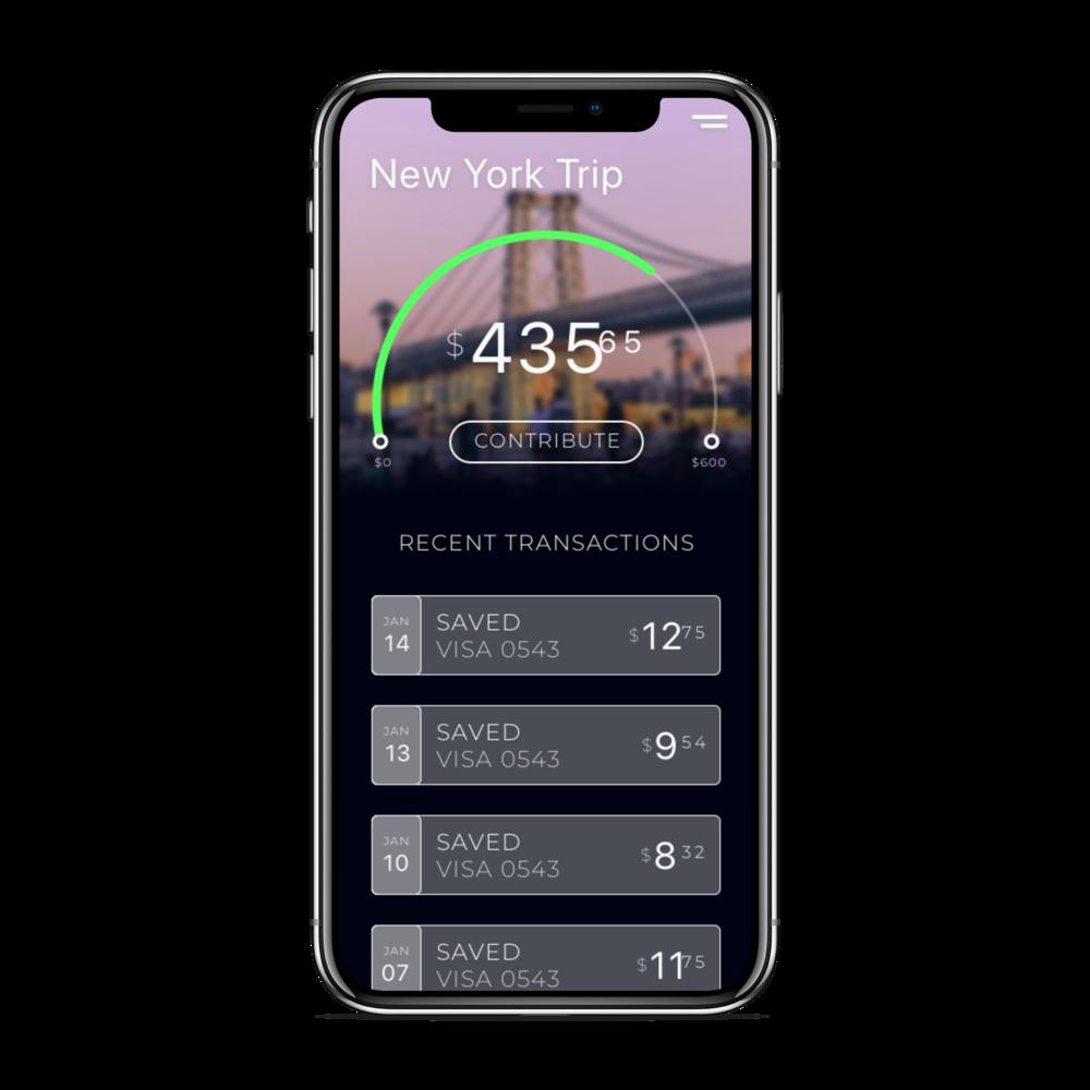 Savings App - iPhone X Mockup