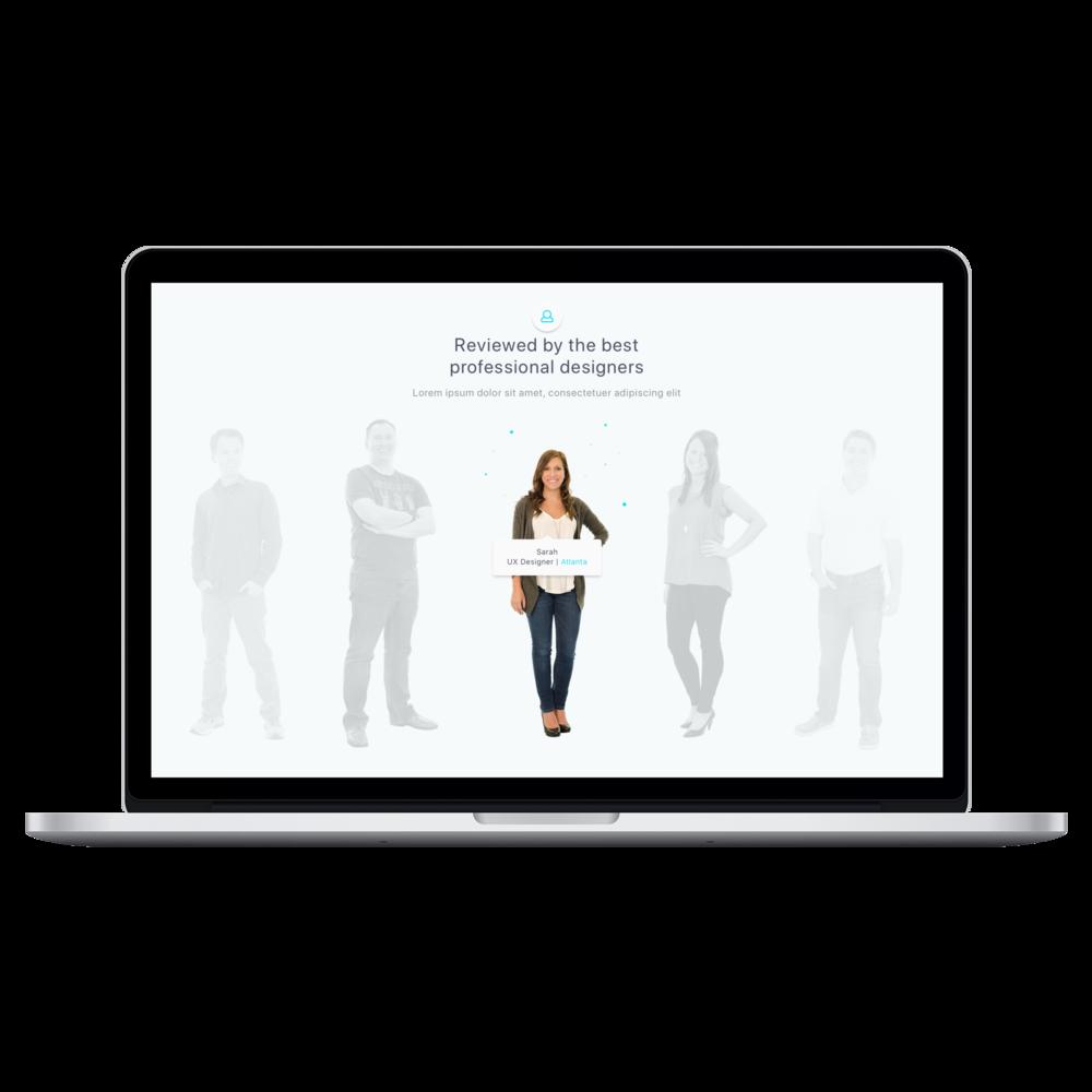 Team Section - Desktop Web UI