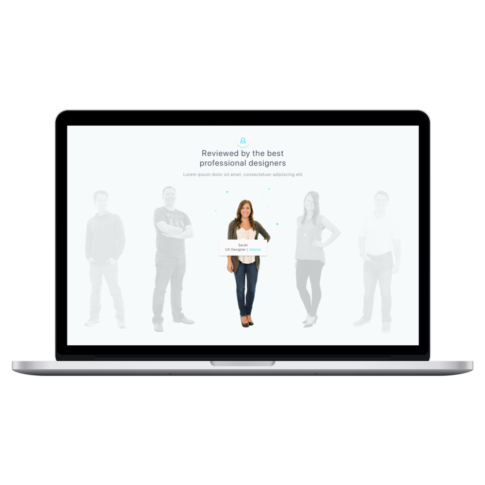"""Team Section Page - MacBook Pro 15""""Mockup"""