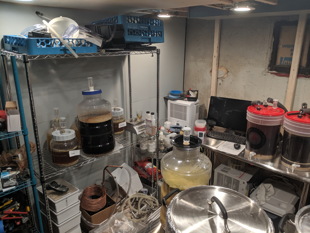 My very small and very full brewing space