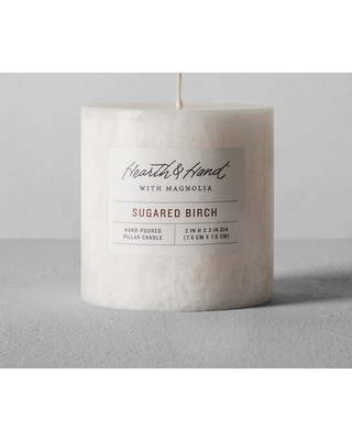 Sugared Birch Candle by Home & Hearth