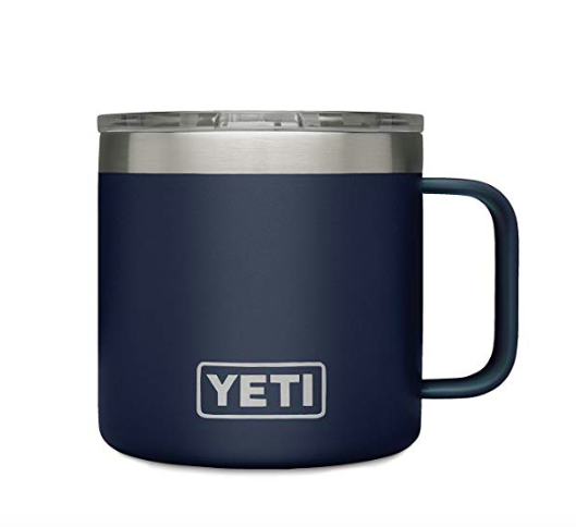 For trips to the back country or the bank office, this travel mug will keep his coffee warm and him looking cool.