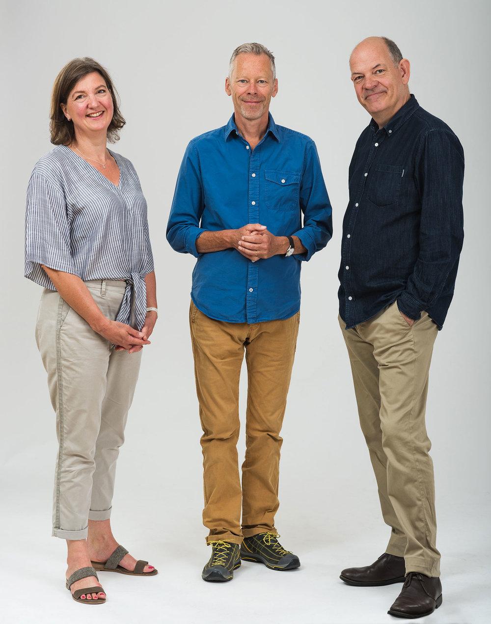 Directors Ruth Ingledow, Richard Hahlo & Geoff Church