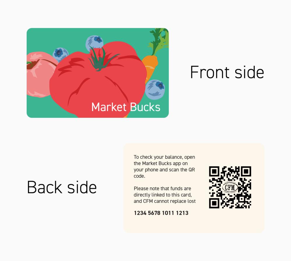 Market Bucks card