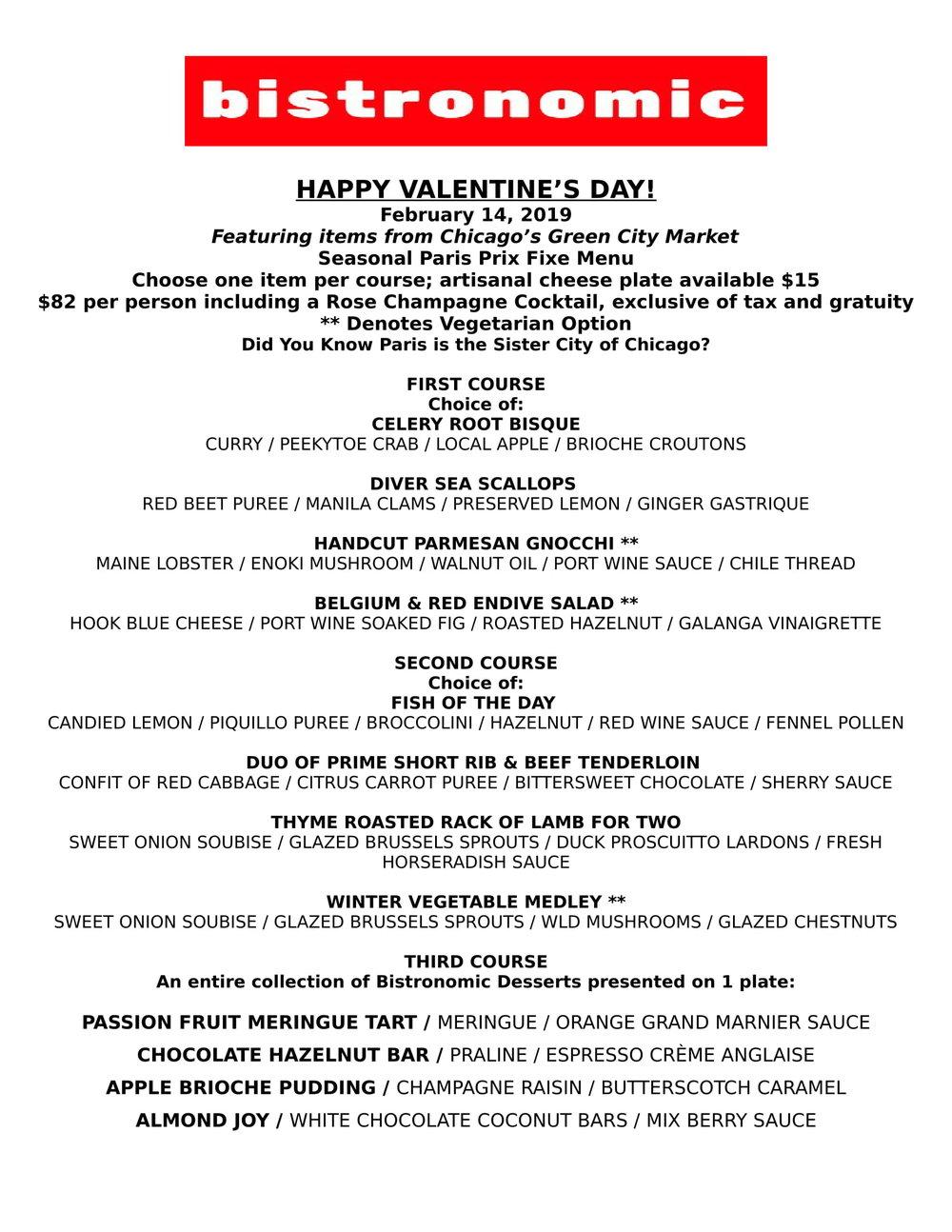 Valentine S Day 2019 Bistronomic