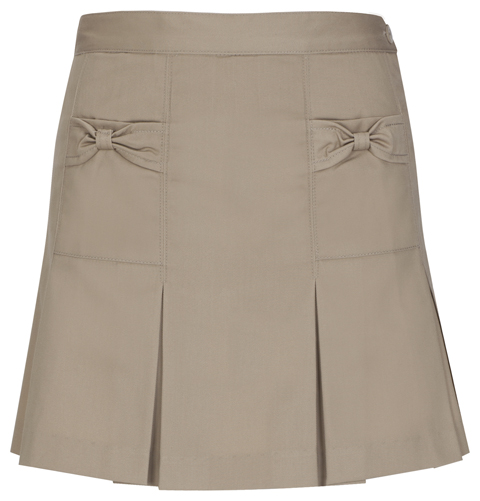 Girls' Khaki Bow Pocket Skort.jpg