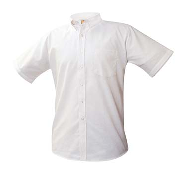 Boys' White Oxford Short Sleeve Shirt.jpg