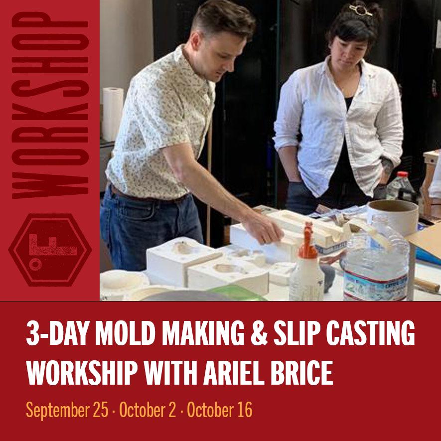 Mold Making & Slip Casting Workshop with Ariel Brice — Fahrenheit Ceramics