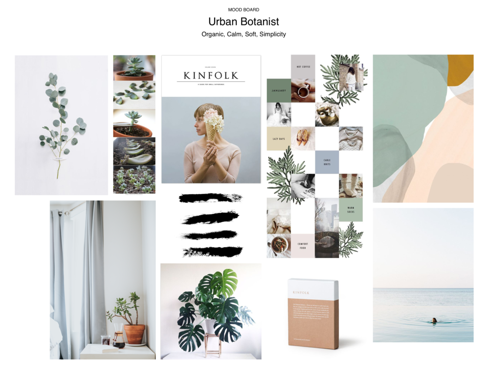 Organic, calm, soft and simplicity were key to the branding on Urban Botanist.