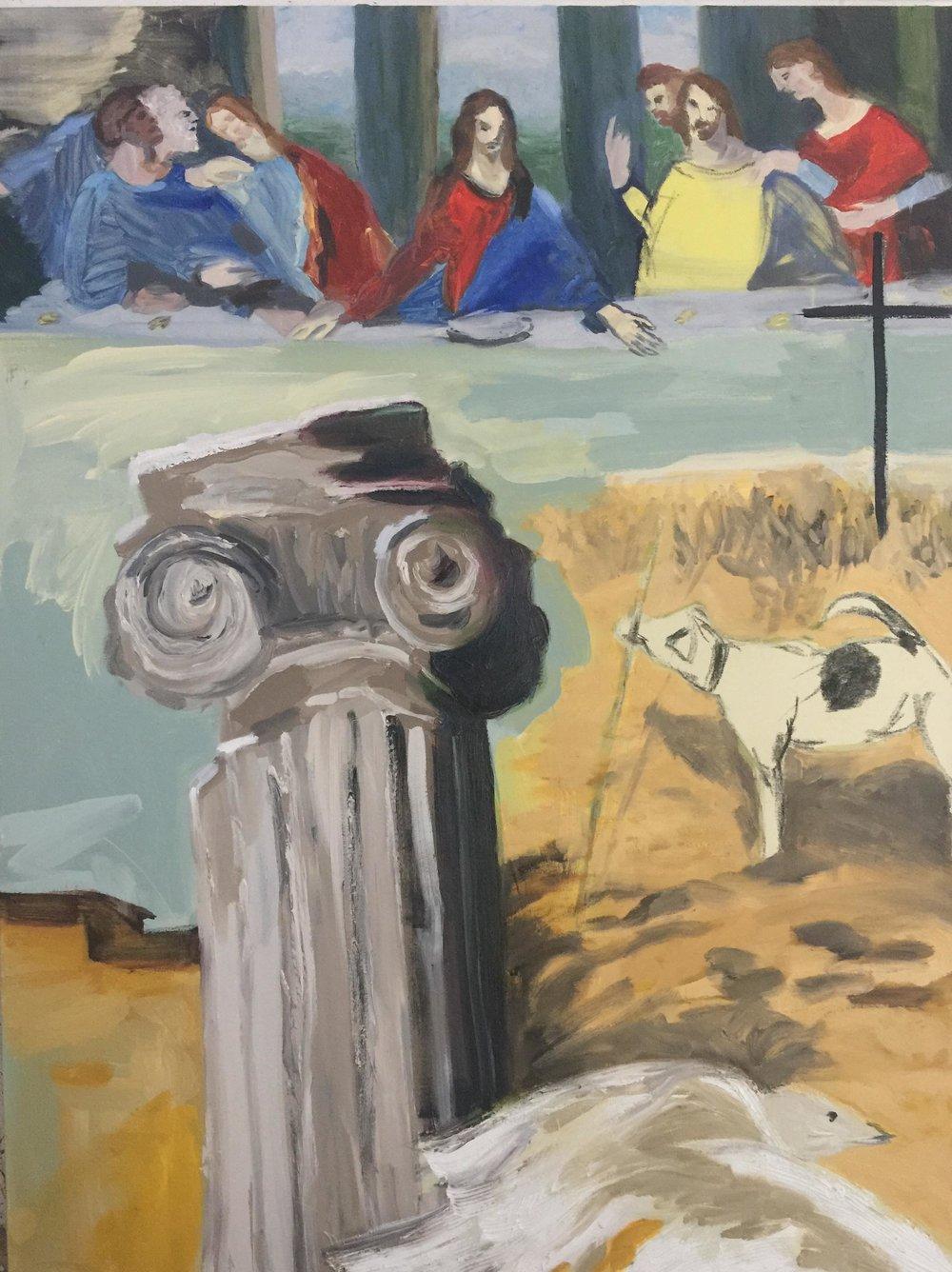 Patti Smith Land 250: Asbury Park N.J.; Colonne, Pompei; Mouette; Snowy le chien, Provincetown Massachusetts; La Cene, Leonardo da Vinci.