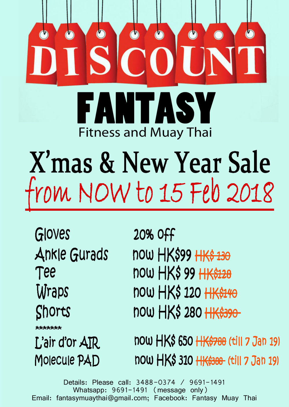 SALE - Let's shop for new muay thai gear for 2019!!!