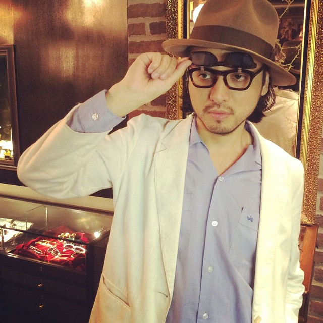 9b5962174c3 Matsu wearing Flip-up Sunglasses — SOLAKZADE(ソラックザーデ ...