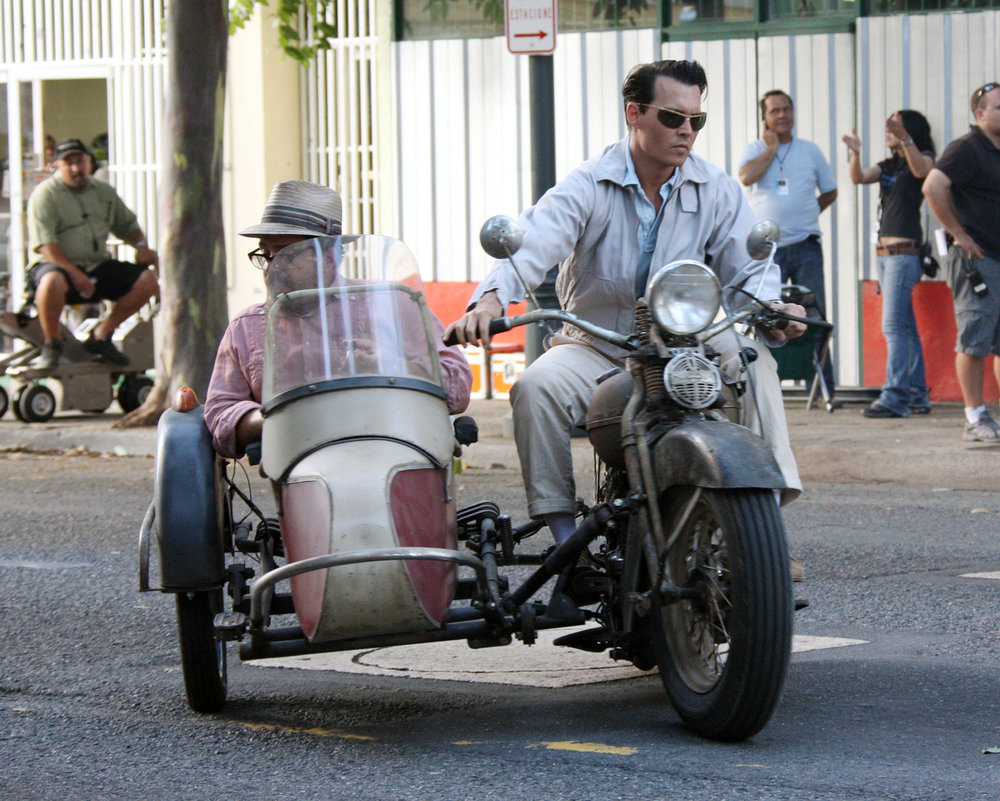 Johnny Depp Is Classic Cool Driving A Vintage Motorcycle! 4/15