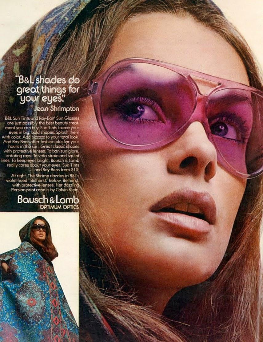 jean shrimpton bausch lomb sunglasses 1971