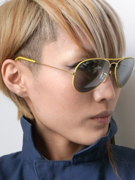 RayBan[METAL FLYING COLORS Yellow on Gold/Changeable Gray]